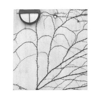 Europe, Switzerland, Lucerne. Ivy pattern on Notepad
