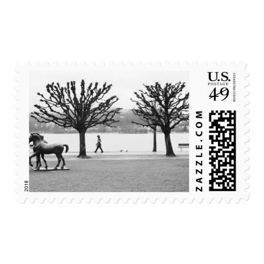 Europe, Switzerland, Lucerne. Lake Lucerne 2 Postage