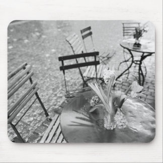Europe, Switzerland, Lucerne. Outdoor cafe table Mouse Pad