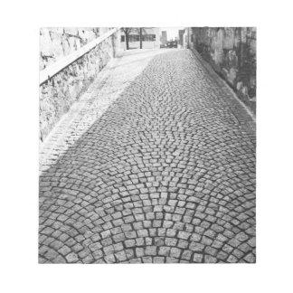 Europe, Switzerland, Zurich. Cobbled street, Notepad