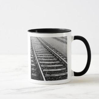 Europe, Switzerland, Zurich. Train tracks Mug