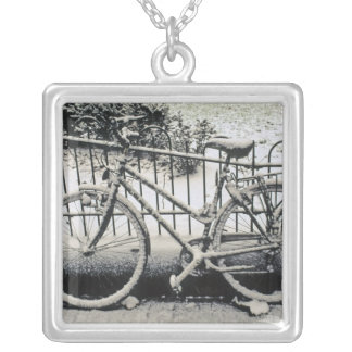 Europe, The Netherlands, Amsterdam. A Square Pendant Necklace