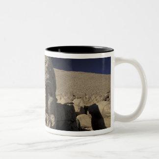 Europe, Turkey, Kurdi. Nemrut Dagh. Two-Tone Coffee Mug