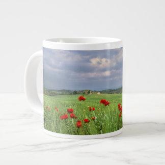 Europe, Tuscany, Poggiolo. Red poppies sway Large Coffee Mug