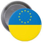 EUROPE UKRAINE PINBACK BUTTON