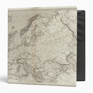 Europe uncolored map 3 ring binder
