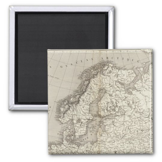 Europe uncolored map magnet