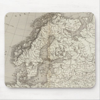 Europe uncolored map mouse pad