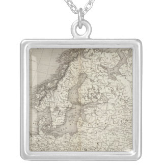 Europe uncolored map pendant