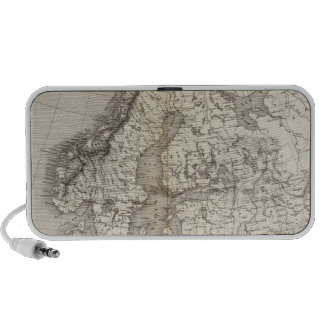 Europe uncolored map portable speaker