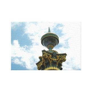 Europe vintage detailed pillar canvas print