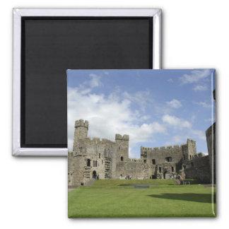 Europe, Wales, Caernarfon. Caernarfon Castle, Magnet