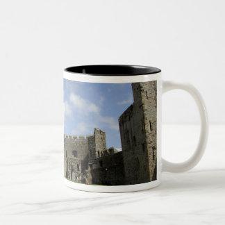 Europe, Wales, Caernarfon. Caernarfon Castle, Coffee Mugs
