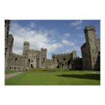 Europe, Wales, Caernarfon. Caernarfon Castle, Poster