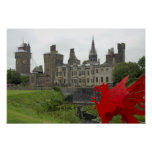 Europe, Wales, Cardiff. Cardiff Castle. Welsh 2 Print