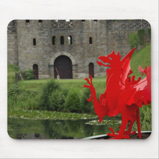 Europe, Wales, Cardiff. Cardiff Castle. Welsh Mouse Pad