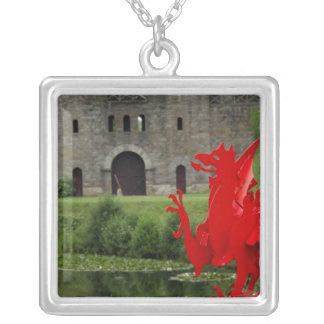 Europe, Wales, Cardiff. Cardiff Castle. Welsh Silver Plated Necklace
