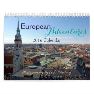 European Adventures 2016 Calendar