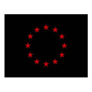 European Anarchist Flag Postcard