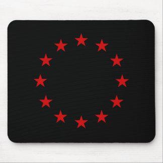 European Anarchist Flag Mouse Pads