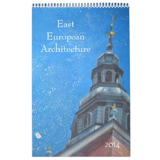 European architecture paintings wall calendars