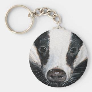 European Badger Keychain