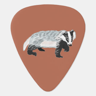European Badger (Meles meles) Guitar Pick
