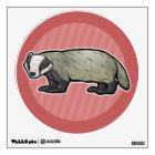 European Badger Wall Sticker