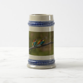 European Bee Eater Birds in Ariège France Beer Stein
