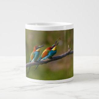 European Bee Eater Birds in Ariège France Large Coffee Mug