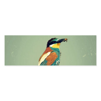 European Bee-Eater Vintage Retro Style Mint Green Business Card Template