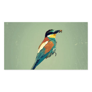 European Bee-Eater Vintage Retro Style Mint Green Business Card