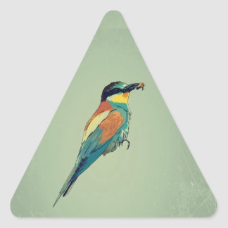 European Bee-Eater Vintage Retro Style Mint Green Sticker