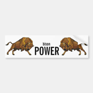 european bison bumper sticker