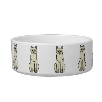 European Burmese Cat Cartoon Cat Bowls