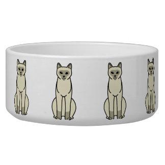 European Burmese Cat Cartoon Dog Food Bowl