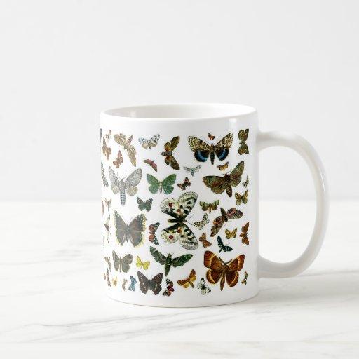 European Butterfly Collage Mug