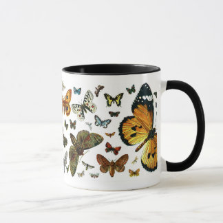 European Butterfly Collage Mug