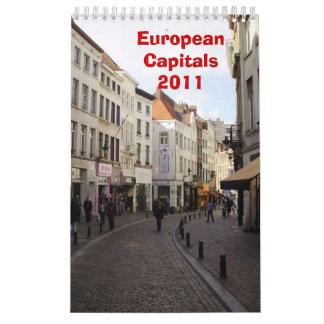 European Capitals Wall Calendar