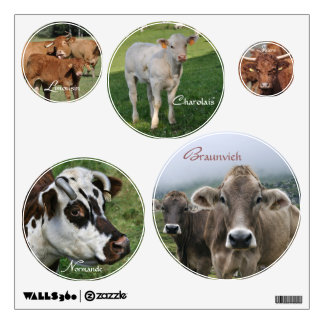 European cattle breeds wall sticker