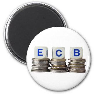 European Central Bank 2 Inch Round Magnet