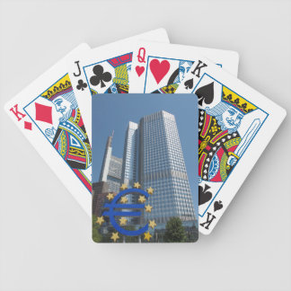 European Central Bank in Frankfurt am Main Bicycle Playing Cards
