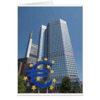 European Central Bank in Frankfurt am Main Card