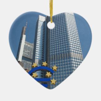 European Central Bank in Frankfurt am Main Ceramic Ornament