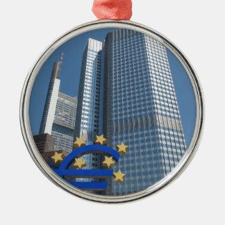 European Central Bank in Frankfurt am Main Metal Ornament