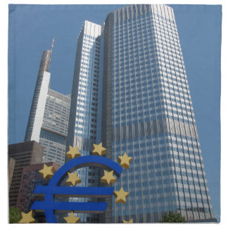 European Central Bank in Frankfurt am Main Napkin