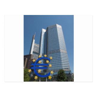 European Central Bank in Frankfurt am Main Postcard