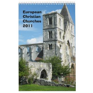 European Christian Churches 2011 Wall Calendar