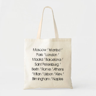 European Cities by Population Tote Bag