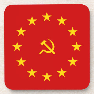 European Communist flag Posavasos De Bebida